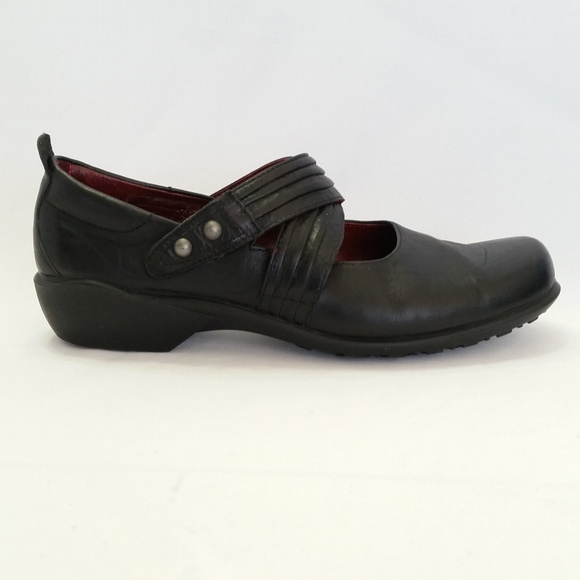 Womens Size 6 Comfort Shoes Romika Black Leather Shoes With Velcro Fastening Women's Shoes